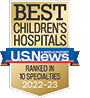 U.S. News & World Report Best Children's Hospitals Honor Roll Badge