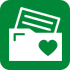 Icon of envelope with heart stamp
