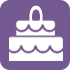 Icon of two-layer cake