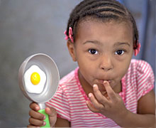 Obesity Program - child with egg