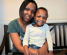 Rhonda Smith and her 3-year-old daughter, Destiny
