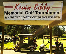 Kevin Eddy Golf Tournament sign