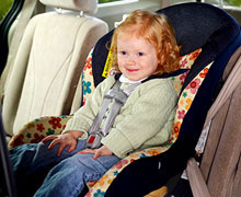 Kiddo is seating in a carseat