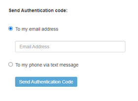 Screen shot of authentication dialog box