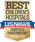 Diabetes and Endocrinology U.S. News and World Report Best Children's Hospitals Badge