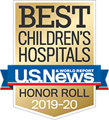 Honor Roll U.S. News and World Report Best Children's Hospitals 2019-2020 Badge