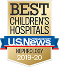 Nephrology U.S. News and World Report Best Children's Hospitals Badge