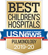 Pulmonology U.S. News and World Report Best Children's Hospitals Badge