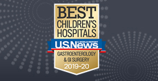 Gastroenterology and GI Surgery U.S. News and World Report Best Children's Hospitals 2019-2020 Badge