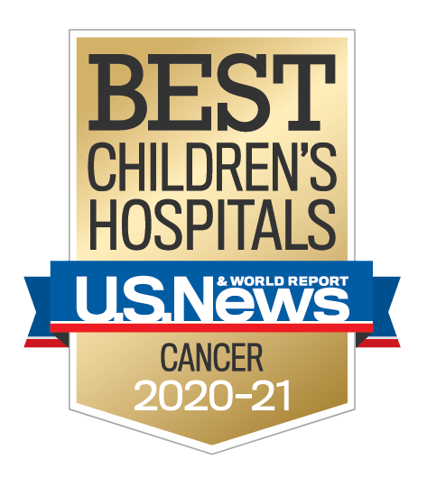 Cancer U.S. News and World Report Best Children's Hospitals Badge