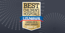 Cardiology and Heart Surgery U.S. News and World Report Best Children's Hospitals 2020-2021 Badge