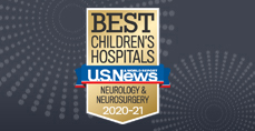 Neurology and Neurosurgery U.S. News and World Report Best Children's Hospitals 2020-2021 Badge