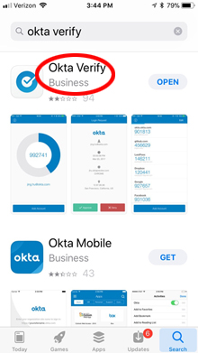 Okta Verify in App Store